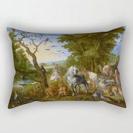 "Jan Brueghel the Elder ""The Entry of the Animals into Noah's Ark"" Rectangular Pillow"