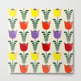 Tulip pattern Metal Print