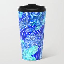 blue sea turtles Travel Mug