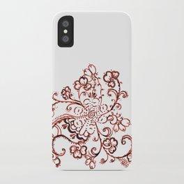 24. Elegant Henna Flower  in Pattern World  iPhone Case