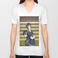homestuck V-neck T-shirts featuring SolKat by Sprat