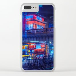 Tokyo Nights / Anime Town / Liam Wong Clear iPhone Case