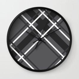 Jumbo Scale Men's Plaid Pattern Wall Clock