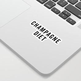 Champagne Diet Funny Quote Sticker