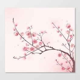 Oriental cheery blossom in spring 006 Canvas Print