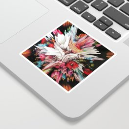Floral Glitch II Sticker