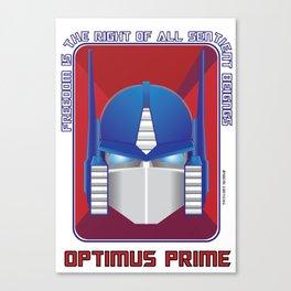 Optimus Prime Vectorial Canvas Print