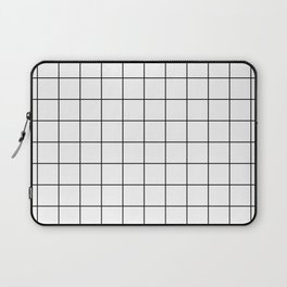 Grid Simple Line White Minimalist Laptop Sleeve