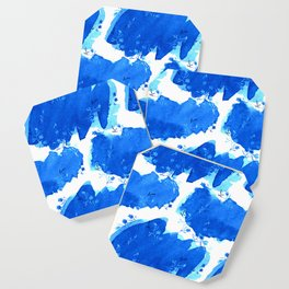 Abstract Watercolor | Paper Blue Coaster