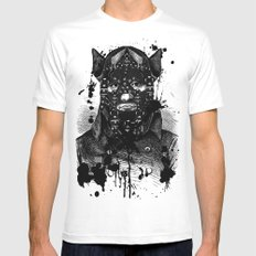 BDSM VII MEDIUM White Mens Fitted Tee