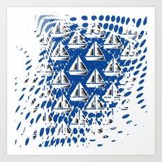 Sailing. Art Print
