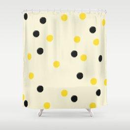 Bee Polka Shower Curtain