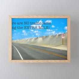 The Extra Mile Framed Mini Art Print