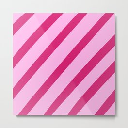 Candy Stripes Metal Print