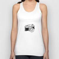 camera Tank Tops featuring Camera by Dea Brazil