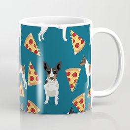 Rat Terrier pizza dog breed pet portrait dog pattern dog breeds gifts for dog lovers Coffee Mug