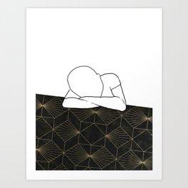 Art Deco Nap Art Print