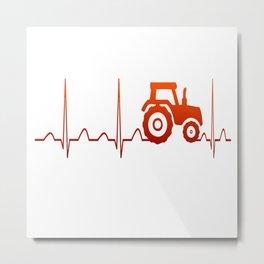 FARMER HEARTBEAT Metal Print