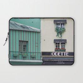 Cafe Odette - Paris Travel Photography Laptop Sleeve