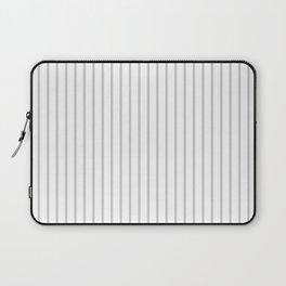 Dove Grey Pin Stripes on White Laptop Sleeve