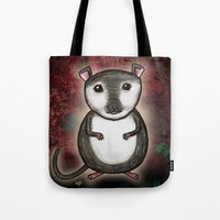 gemma Tote Bags featuring Gemma the Gerbil by Studio 8107