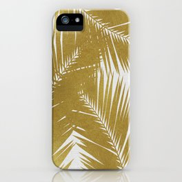 Palm Leaf Gold III iPhone Case