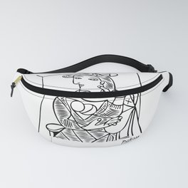 Pablo Picasso Seated Woman Artwork, Posters, Prints, TShirts, Reproduction Sketch, Men, Women, Kids Fanny Pack
