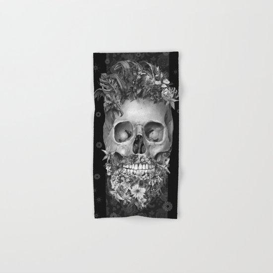 floral beard skull 3 Hand & Bath Towel