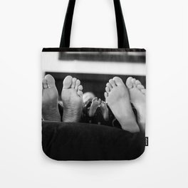 THREE LITTLE FEET Tote Bag