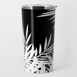 The leaves and berries. Black and white pattern . Travel Mug