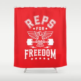 Reps For Freedom v2 Shower Curtain