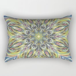 Colorful Center Swirl Rectangular Pillow