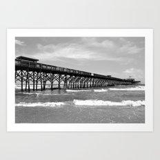 Folly Beach Pier Art Print