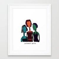 polkadot Framed Art Prints featuring Polkadot gurlz by Giang Di Penguin