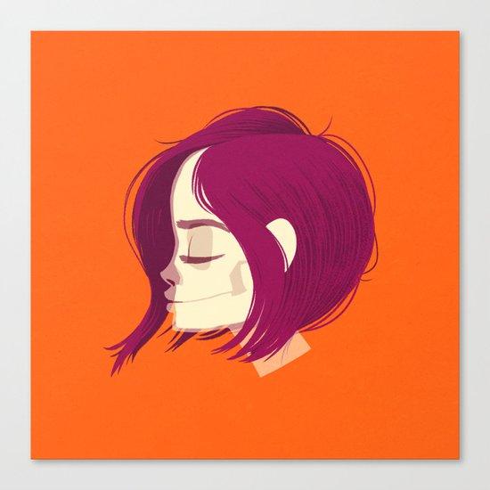 see through girl 1 Canvas Print