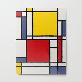 Abstract Mondrian Style Art Metal Print
