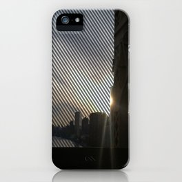 Striped View of Lower NYC from the 59th St. Bridge  iPhone Case
