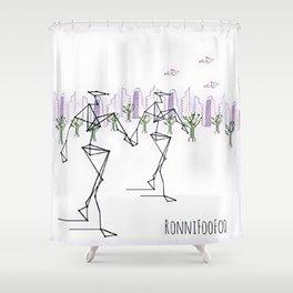 Brave Foo World Shower Curtain