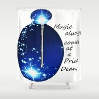 once upon a  time Shower Curtains featuring once upon a time  by grapeloverarts