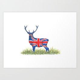 BRITISH Red Deer Art Print