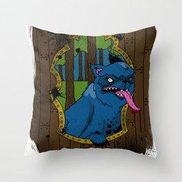 wolf at your door Throw Pillow