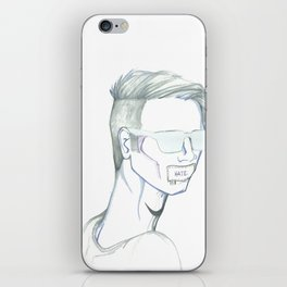 Hate XL iPhone Skin