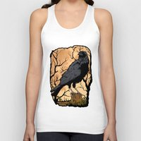 crow Tank Tops featuring Crow by Murat Sünger
