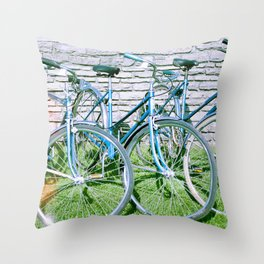 Vintage Schwinns Throw Pillow