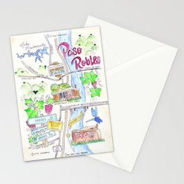 New Paso Robles Map Stationery Cards