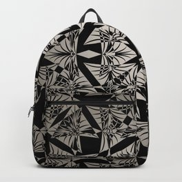 Art Deco 42 Black and gray ornament . Backpack