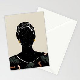 Black Hair No. 5 Stationery Cards