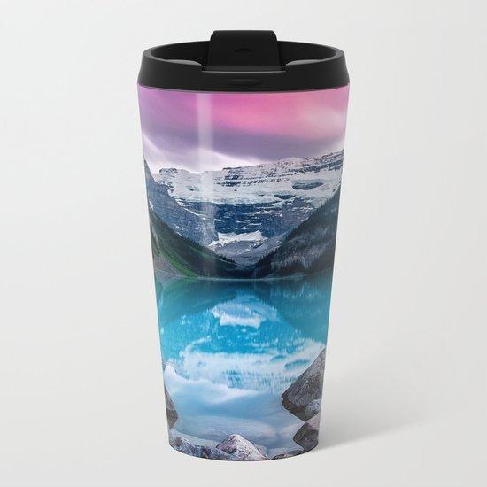 Lake Louise Metal Travel Mug