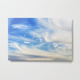 Clouds over Menton France in a summer day Metal Print