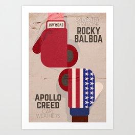 Rocky, Sylvester Stallone, Apollo, Rocky II, alternative movie poster, boxing movie Art Print